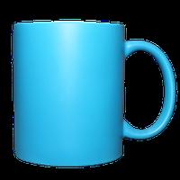 Кружка керамическая неон (голубой)