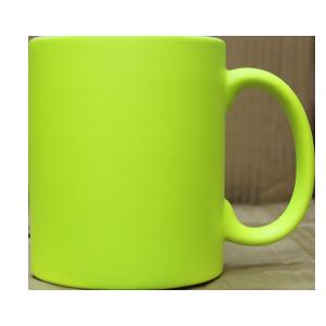 Кружка керамическая неон (желтый)