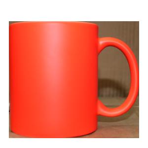 Кружка керамическая неон (оранжевый)