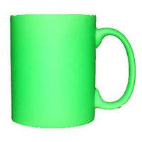 Кружка керамическая неон (салатовый)