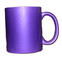 Кружка керамическая перламутр (Пурпурный)
