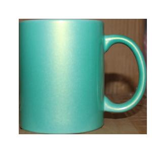 Кружка керамическая перламутр (салатовый)