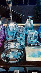 Стакан для ватных палочек Голубые лепестки