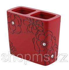 Подставка д/зубн. щеток Красный цветок BPO-0308B    ***