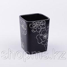 Стакан Черный цветок BPO-0306C