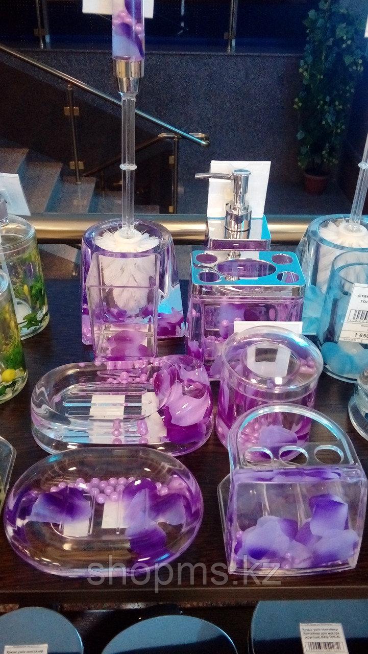 Стакан для зубн.щеток Фиолетовые лепестки