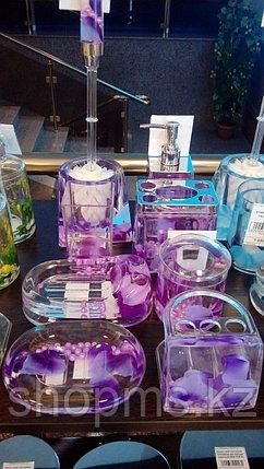 Стакан для зубн.щеток Фиолетовые лепестки, фото 2