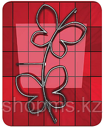 Полотенцесушитель электрический ДВИН Butterfly twist 930/625 1-1/2 скрытый тэн (К эл.)