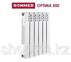 Радиатор алюминиевый Rommer  Optima 500 (RAL9016)