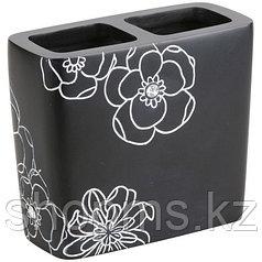 Подставка д/зубн. щеток Черный цветок BPO-0306B