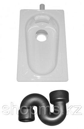 Чаша Генуя 535х340х264 стальная с сифоном и рассекателем, фото 2