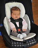 Подушка для поддержки в автокресле или коляске. 0-8 мес. ЦВЕТ ХАКИ