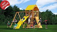 Детская площадка «Рим», скалодром,горка, качеля, домик с крышей, фото 1