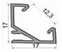 Профиль, профиля для светодиодных лент  ЛПУ 17 Профиль алюминиевый, анодированный, цвет - серебро, фото 4