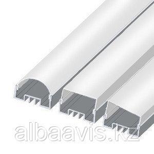 Профиля для светодиодных лент,  светодиодные профиля ЛСО Профиля алюминиевые, анодированные, цвет - серебро