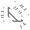 Led светодиодный профиль ЛСУ Профиль лед алюминиевый, анодированный, цвет - серебро, фото 4