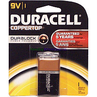 Батарейка Duracell Coppertor 9v ,made in USA