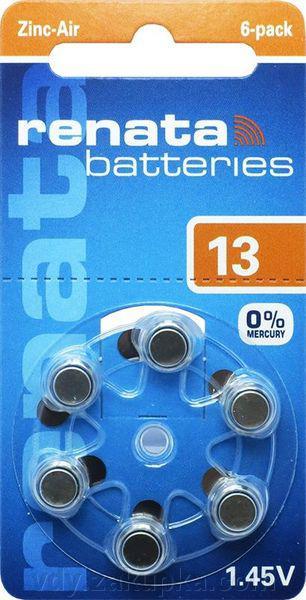 Батарейка для слуховых аппаратов Renata ZA 13  1,4v