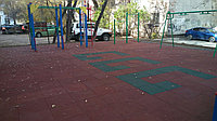 Плитка резиновая для детских площадок