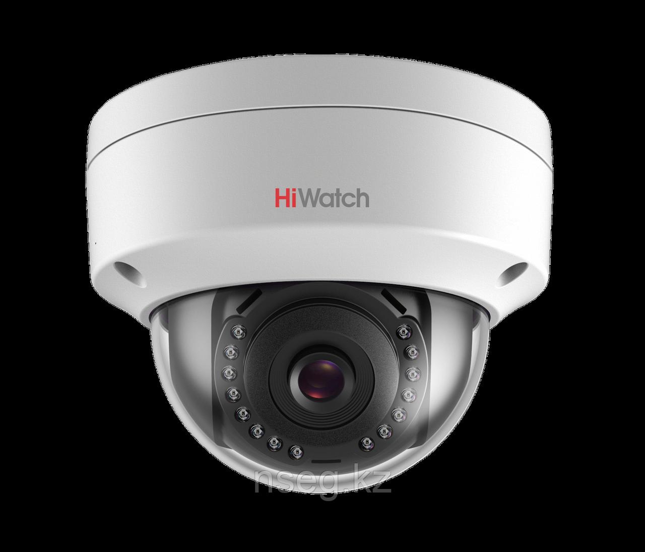 HiWatch DS-I102 1Мп уличная купольная IP камера с ИК-подсветкой до 30м