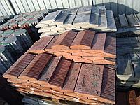 Накрывочный камень 400x250 на забор  Красный