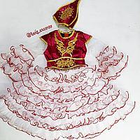 Казахское национальное платье для девочек 4-6 лет