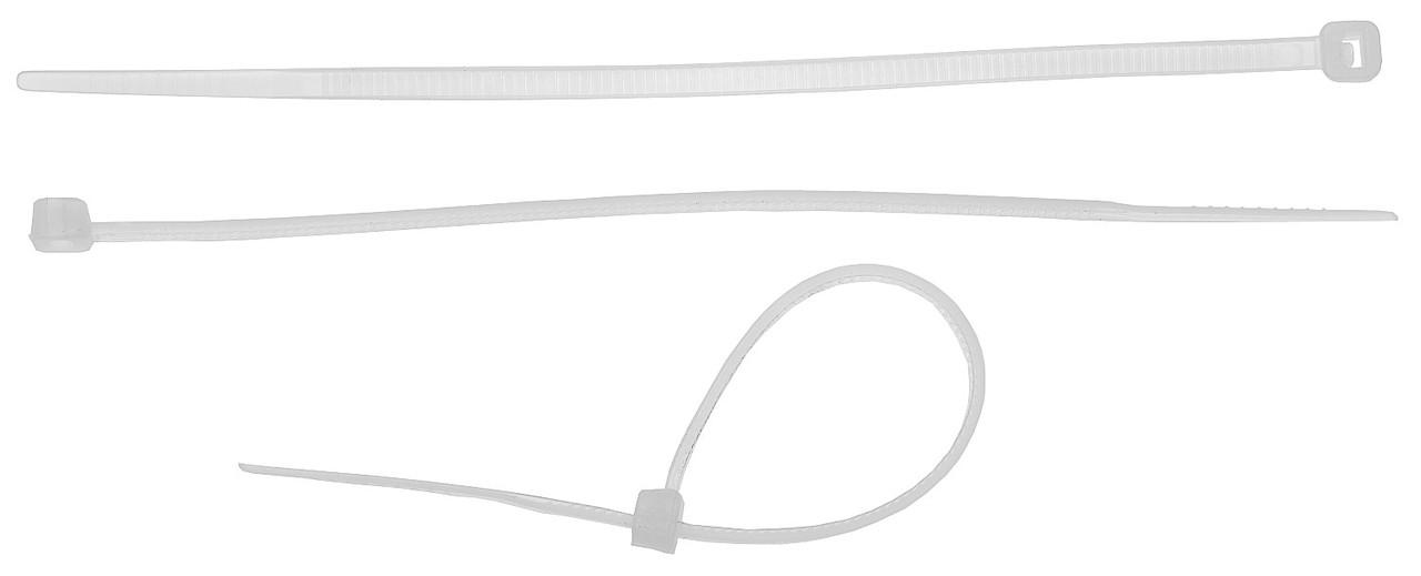 (4-309017-48-400) Хомуты ЗУБР нейлоновые, в п/э пакете, тип 7, белые, 4,8ммх400мм, 25шт
