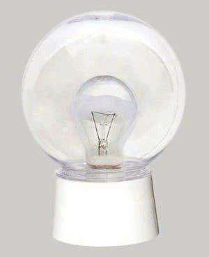 Светильник НББ ЖКХ-04 1х60Вт E27 IP20 энергосбер. с фото-акуст. датчик прозрачн. Аргос