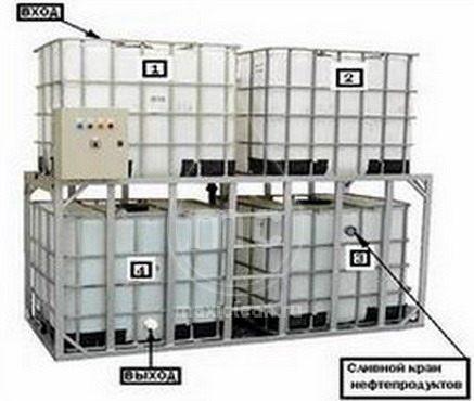 (100-044) Напольный грязеотстойник для автомойки 4000 литров