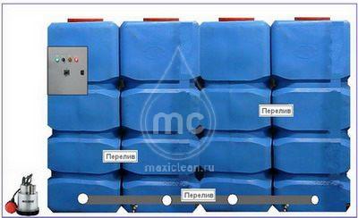(100-046) Напольный грязеотстойник для автомойки 4000 литров