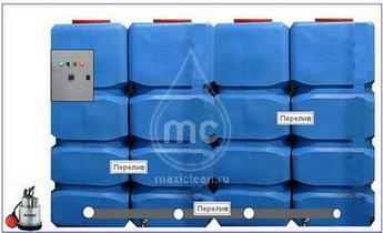 Напольный грязеотстойник (Поверхностный отстойник) для автомойки - 8000 литров