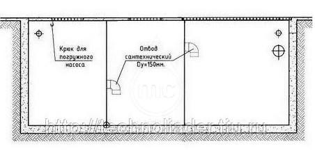 (100-047) Многосекционный грязеотстойник, 2600 литров, сталь 5мм. (кессон)