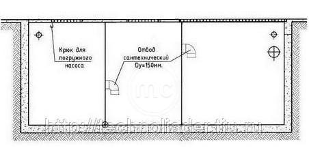 (100-054) Многосекционный грязеотстойник, 4000 литров, сталь 5мм. (кессон)