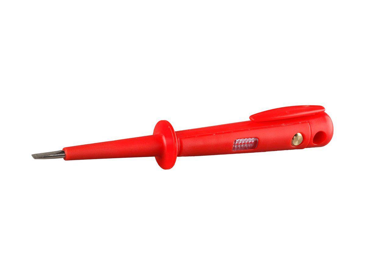 (SV-45161-15-C) Пробник СВЕТОЗАР электрический, цельнолитой пластмассовый корпус, на карточке, 100-250в