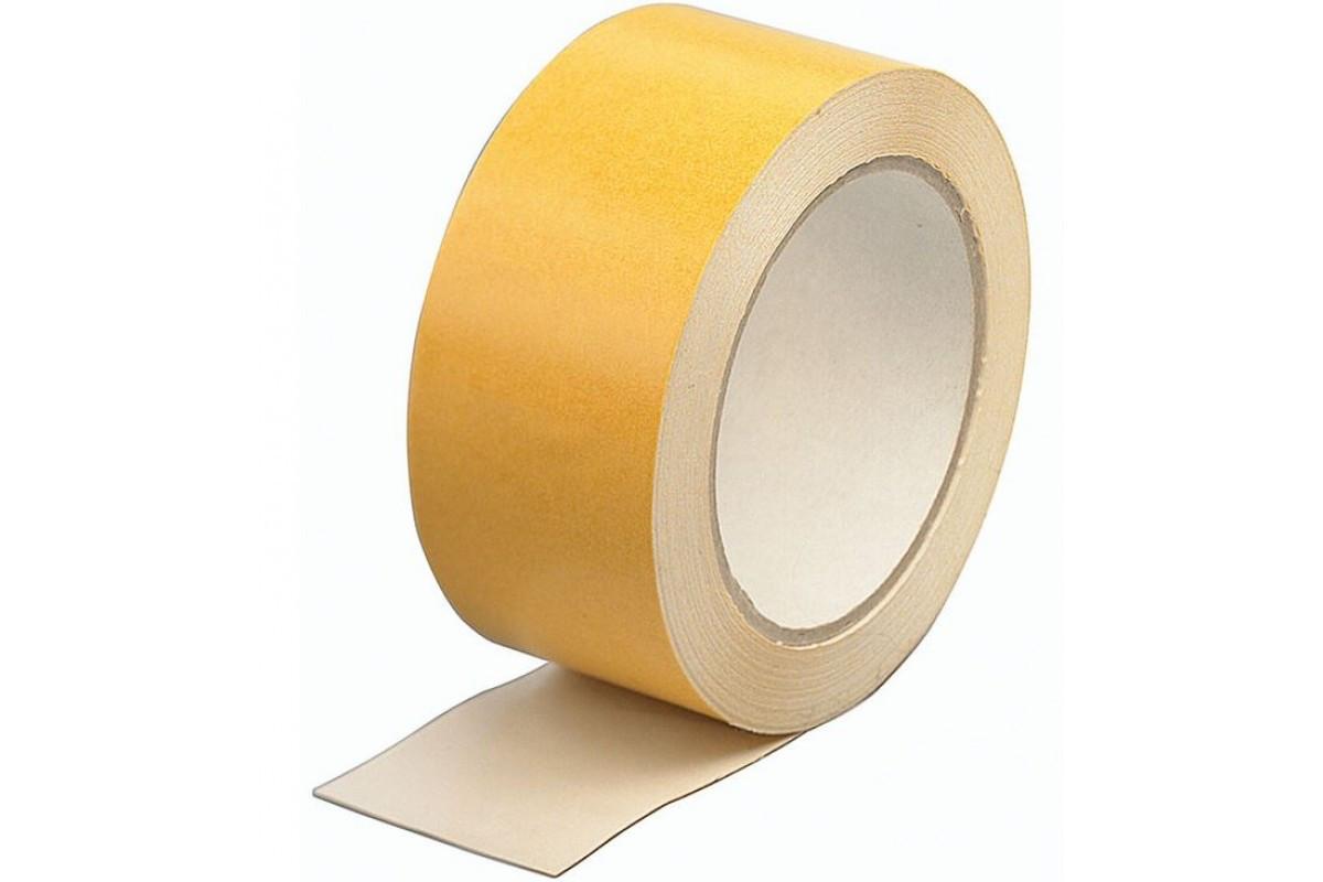 HAUSER лента двухсторонняя для ковролана жёлтая 48 мм *10 м