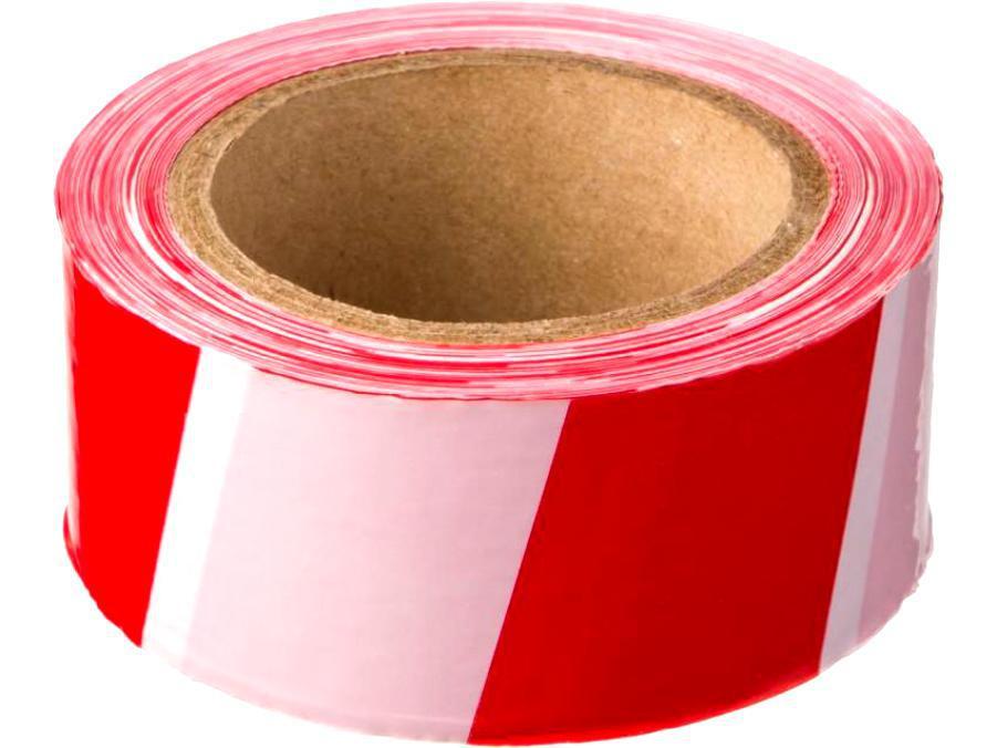 PRAXA лента сигн-я красно-белая 80 мм х 100 м