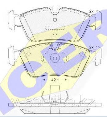 Тормозные колодки ICER 181295(REMSA 384.40)