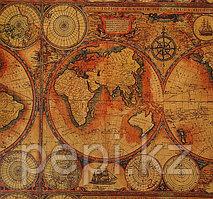 """Бумага крафт """"Карта мира"""", 0,7 х 10 м (60гр)"""