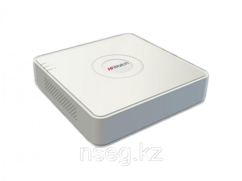 HiWatch DS-H104Q 4-х канальный гибридный HD-TVI регистратор для аналоговых/ HD-TVI и AHD камер, + 1 IP-камера@