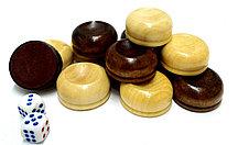 Игровой набор для шашек и нард деревянный