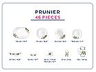 Столовый сервиз Luminarc Carine Prunier 46 предметов на 6 персон, фото 2