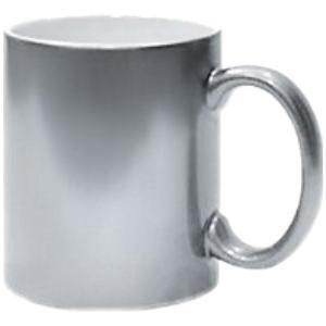Кружка керамическая серебро