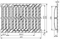 Решетка водоприемная Gidrolica Standart РВ -30.37.50 - щелевая чугунная ВЧ, кл. С250 , фото 1