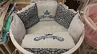 """Комплект в кроватку """"Версаль"""" 7 предметов  (для прямоугольной кроватки)"""