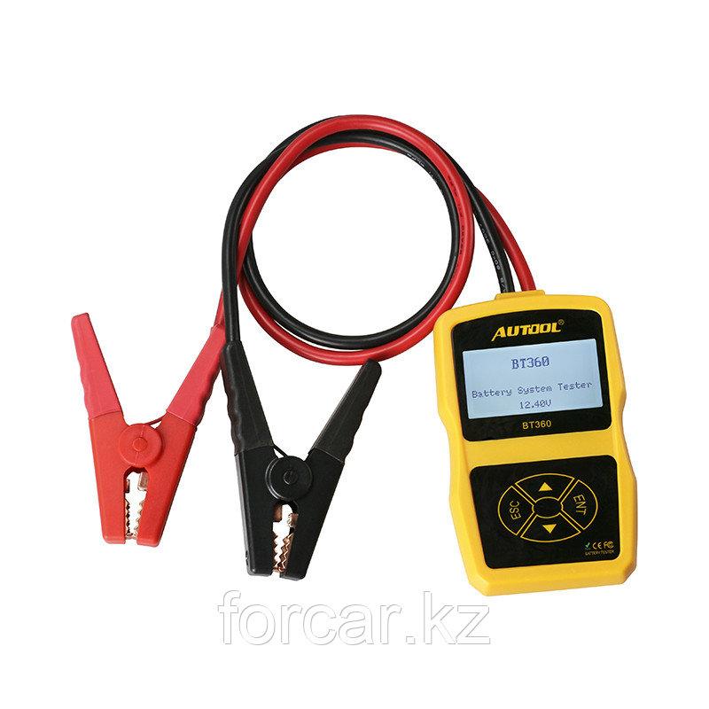 Тестер аккумуляторных батарей Autool BT-360 CCA100-2000, 30-220Ah