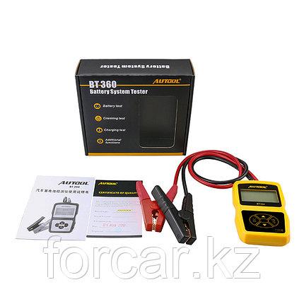 Тестер аккумуляторных батарей Autool BT-360 CCA100-2000, 30-220Ah, фото 2
