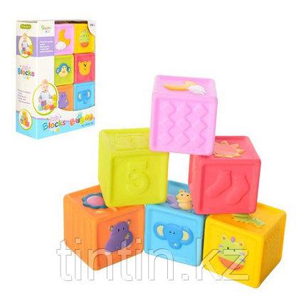Набор из 6 резиновых кубиков-пищалок, фото 2