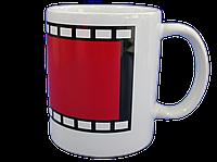 Кружка белая красный Хамелеон кадр
