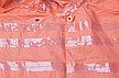 Плащ-дождевик ЗУБР 11617-52, сигнальный цвет, нейлоновый на молнии, размер 52-54, фото 2