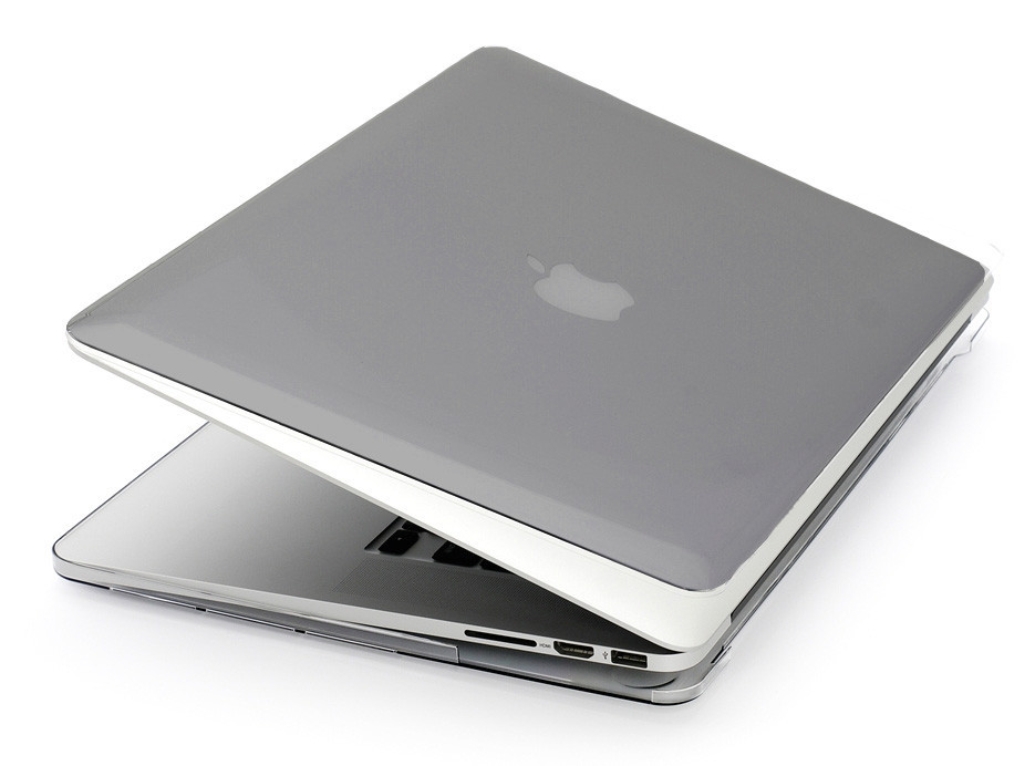 Глянцевый пластиковый чехол для MacBook Pro 13'' 2017 A1708 (серый)